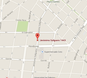 Mapa Palais Rouge