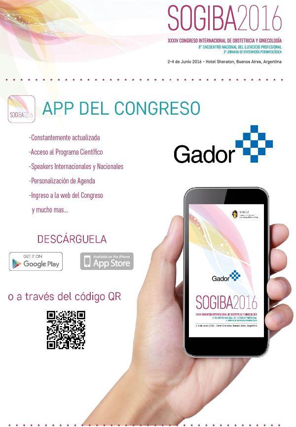 Aplicación Congreso SOGIBA 2016